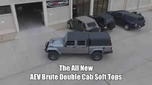 jeep brute aev jeep brute double cab soft tops youtube