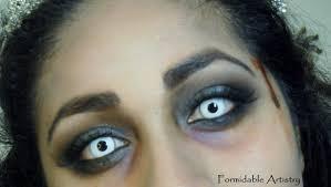 formidableartistry zombie prom queen bride halloween makeup tutorial