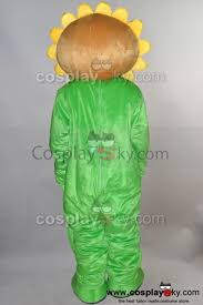 Sunflower Halloween Costume Sunflower Plants Zombies Pvz Mascot Costume Size