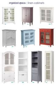 Bathroom Cabinets Ideas Storage White Bathroom Vanty Tall Cabinet Cottage Style This Mamas