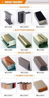 different kinds of aluminium profile to make kitchen cabinet with