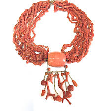 coral necklace images Cobra and bellamy mediterranean coral necklace in 18ct gold jpg
