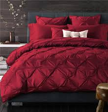 new cozy bedding sets pinch pleat design king queen size soft