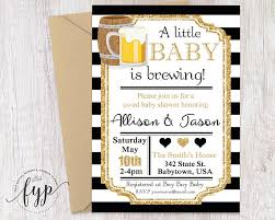 co ed baby showers coed baby shower invitation baby is brewing invitation