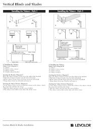 Valance Parts Vertical Blinds Shades Installation Instructions