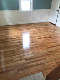 oak hardwood floors with a high gloss finish central mass