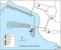lake sakakawea map lake sakakawea state park overview