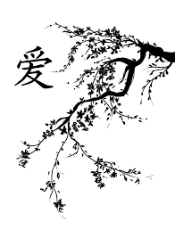 cherry blossom tree drawing black and white clipartxtras