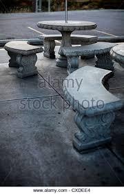 Round Concrete Patio Table Concrete Table Stock Photos U0026 Concrete Table Stock Images Alamy