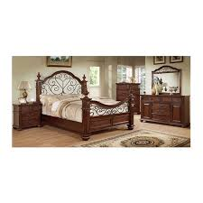 Furniture Of America Bedroom Set Landaluce Antique Dark Oak Finish - Bedroom sets at art van