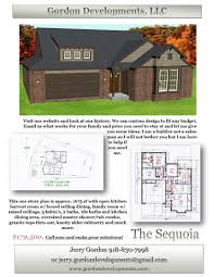 Tulsa Home Builders Floor Plans by New Homes Sales Home Builders Gordon Developments Llc Tulsa Ok