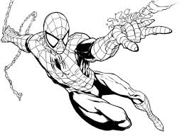 spiderman wearing his mask coloring pages spiderman mask coloring