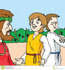 bible stories the parable of the two sons royalty free stock