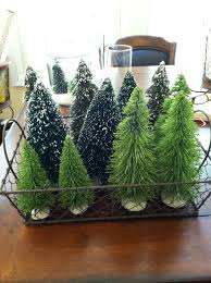 how to decorate with mini christmas figurines and trees mommy
