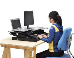 laptop riser for desk wholesale portable and height adjustable standing desk with factory
