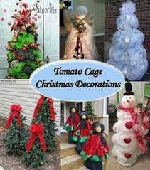 Diy Outdoor Lawn Christmas Decorations Next Time You U0027re At Lowe U0027s Grab A Tomato Cage And Copy This