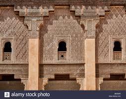 Moorish Architecture Moorish Architecture Of Islamic Medersa Ben Youssef Stock