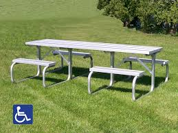 Picnic Table Frame Aluminum Picnic Tables Metal Park Tables National Recreation