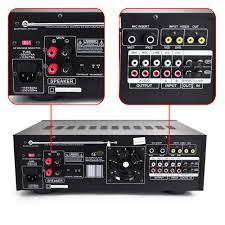 rca home theater 1000 watts pyle pmxakb1000 1000 watt karaoke mixer audio amplifier rca