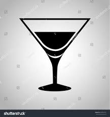 martini silhouette vector martini glass icon stock vector 382967767 shutterstock