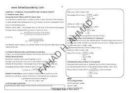 o u0027levels chemistry notes gce and igcse