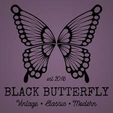 kendra edwards design black butterfly