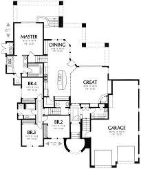 side split house plans plan w16336md styling for side slope lot e