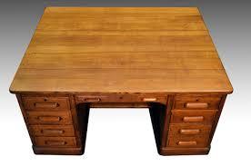 sold antique oak partner raised panel executive desk by derby