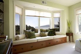 Window Bench With Storage Attractive Small Bay Window A Best Sunny Spot In Your House