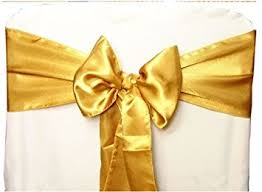 wedding chair sashes gold satin wedding chair sash bows set of 10