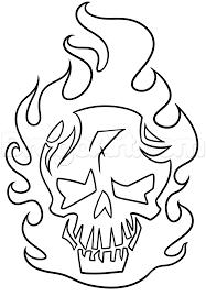 Step 6 Suicide Squad Diablo Skull Drawing Lesson