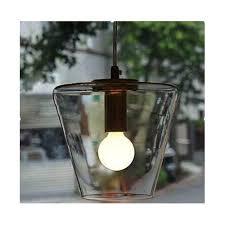 Clear Glass Pendant Light Fixtures 1 Light Cone Lamp Modern Pendant Lamp Clear Glass Pendant Light