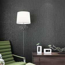 fashion plain linen wallpaper background black wall paper for