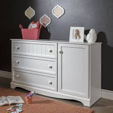 amazon com south shore savannah 3 drawer dresser with door pure