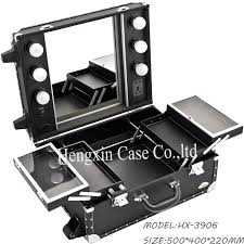 Rolling Makeup Case With Lights Professional Makeup Mirror With Lights U2013 Designlee Me