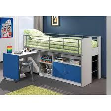 lit surélevé avec bureau lit mezzanine avec bureau coulissant enfant bon achat vente lit