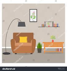 home interior living room lounge design stock vector 727994995