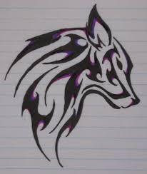 black ink wolf tribal tattoo design on paper u2013 truetattoos