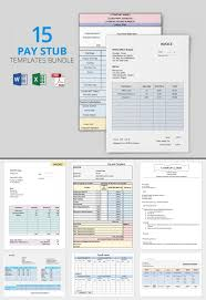 15 pay stub templates free samples download in word excel pdf