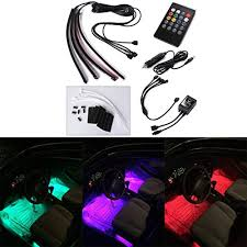 Neon Lights In Cars Interior Xcellent Global 4pcs 12 Inch 8 Color Car Interior Light Led
