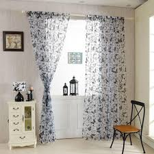 high quality fashion butterfly voile door curtain panel window