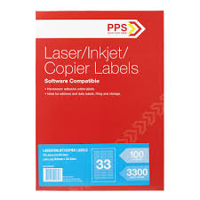 33 Labels Per Sheet Template by Pps Mailing Labels 33 Up 100 Pack Officeworks