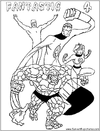 four coloring pages