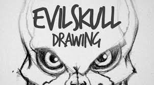 pencil drawings to draw evil skull drawing drawing factory
