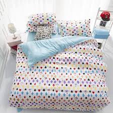 Cheap Cotton Bed Linen - new aqua checked comforters sweet cotton bedlinen plain home