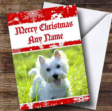 west highland terrier dog personalised birthday card the card zoo