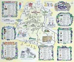 Oregon Winery Map by Tuskies Wine Trail