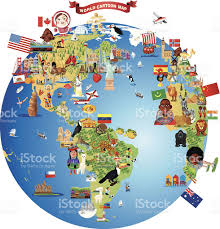 Map Of The World Art by Cartoon Map Of World Stock Vector Art 483871933 Istock
