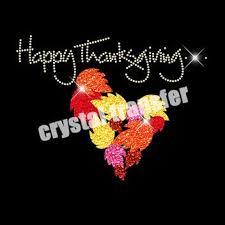 thanksgiving turkey rhinestone heat transfers wholesale glitter