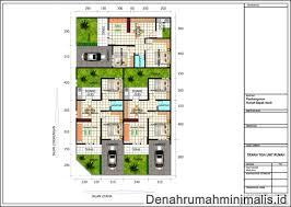 desain 3d terbaik denah rumah minimalis type 70 1 lantai denah